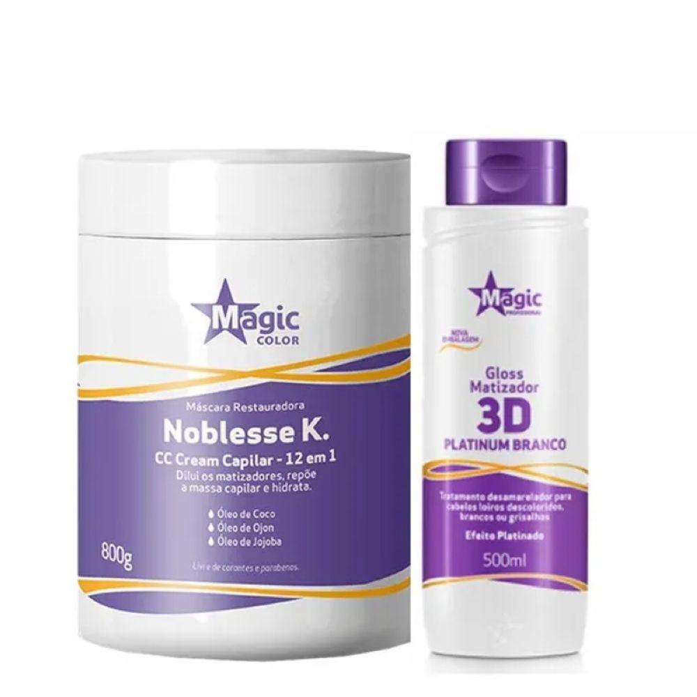 17ef2454d Kit Máscara Noblesse K. + Matizador Platinado Magic Color ...