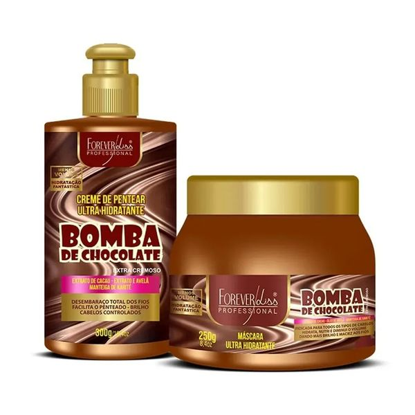 kit-bomba-de-chocolate-creme-mascara-250g-forever-liss-eufina-cosmeticos