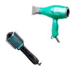 kit-secador-fox-soft-green-e-escova-oval-style-220v-taiff-eufina-cosmeticos